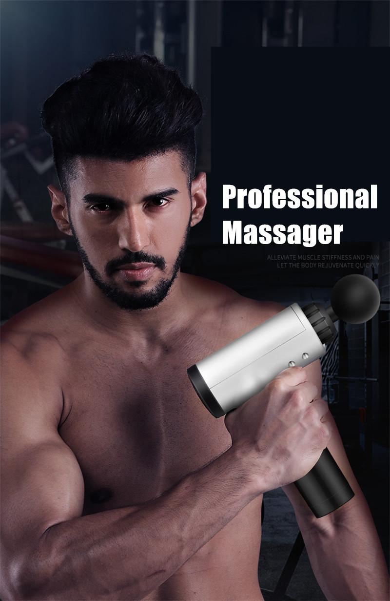 Fascial Gun Muscle Massaging Relax Recovery Soreness Pain Fascia Gun Relief Slimming Shaping Massager 4 Heads Gym Aiding (15)