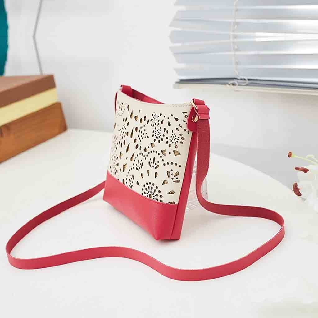 Cheap Fashion shoulder bag women Ladies Laser Engraved One-Shoulder Bucket Wandering Bags Mobile Phone Purse leather shoulder bag