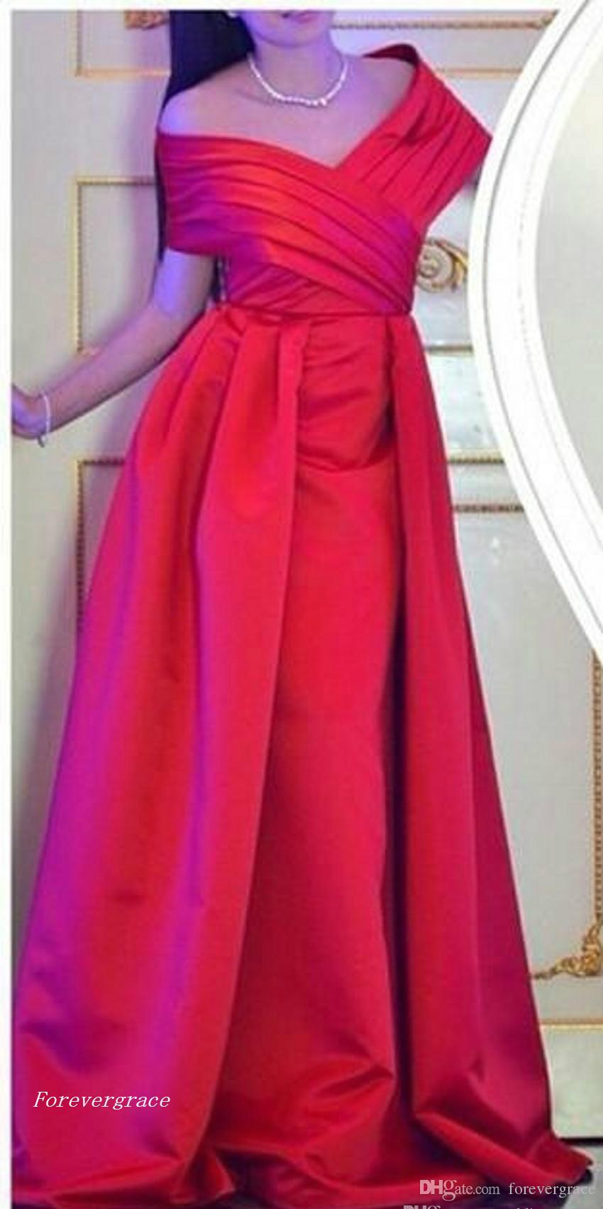 2017 Fashion V-neck Evening Dress Floor-length Long Formal Holiday Wear Prom Party Gown Custom Made Plus Size