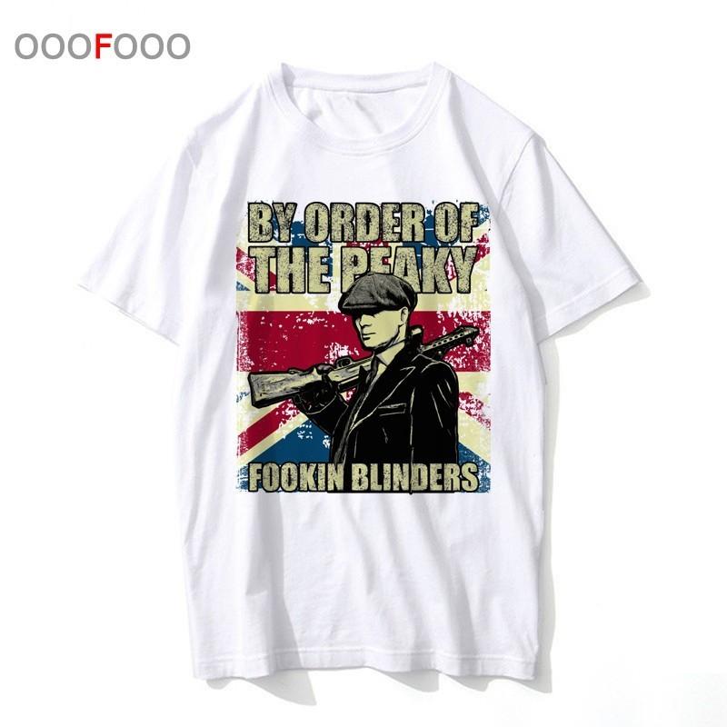 peaky blinder t shirt tshirt clothing t-shirt male tee hip top men harajuku streetwear for hop funny BBFE