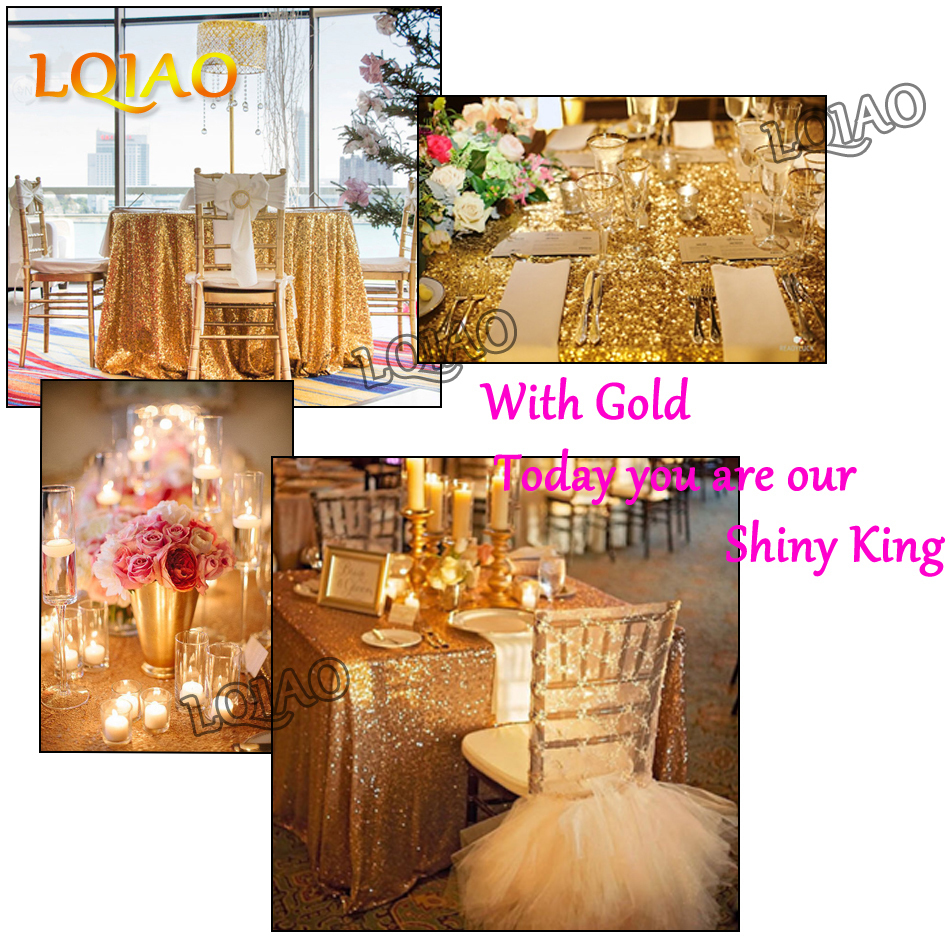 Gold Sequin Tablecloth-001