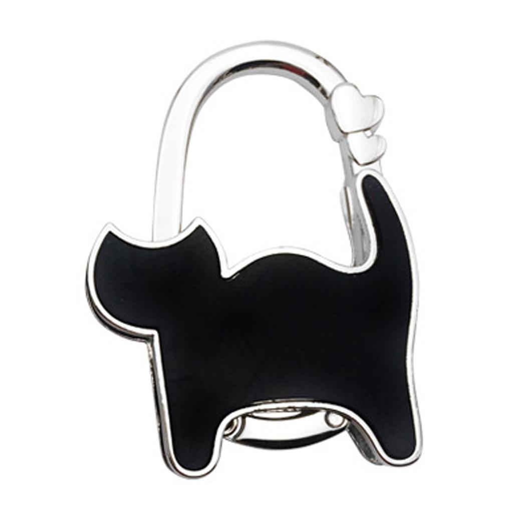 Fashion New Shimmery Metal Cat Shape Handbag Bag Purse Hanger Table Hook Holder New Fashion Women's Handbags & Bags