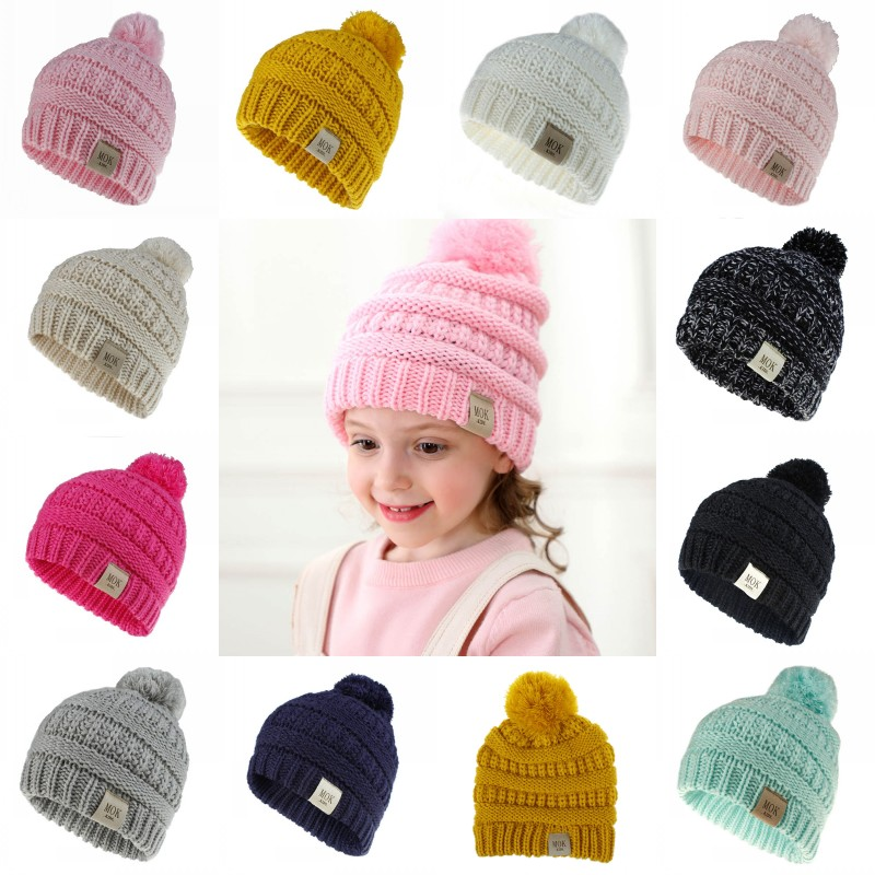 Baby Hat Girl Newborn Infant Cute Knit Wool Flower Winter Warm Cap Beanie TM Elevin