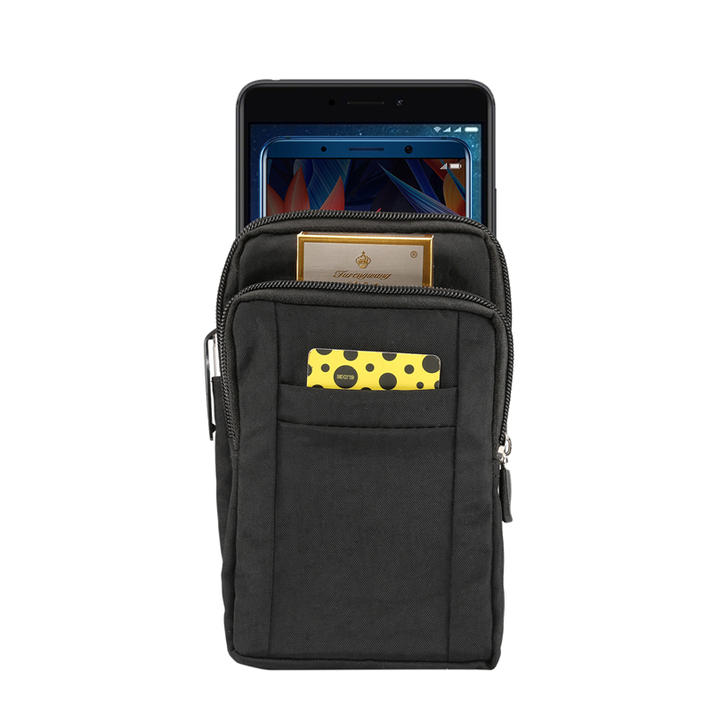 Men Belt Fanny Waist Bags Travel Wallet Pouch Cell Phone Bag For iphoneXS Max XR 8 7 6s Plus with Hanging Strap