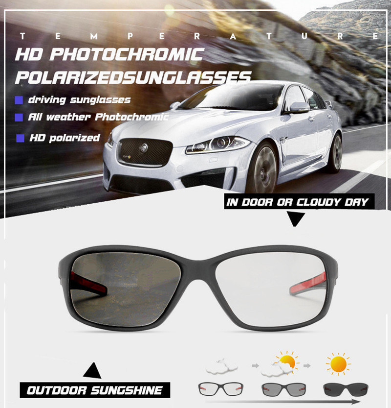 Hd Polarized Photochromic Sunglasses Men Driving Chameleon Glasses Male Day And Night Vision Driver Goggles Lentes Sol Hombre