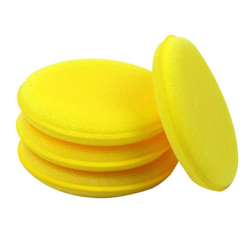 Aplicador De Pulido Almohadillas de Microfibra Detalle De Coche 12 cm 2x Amarillo