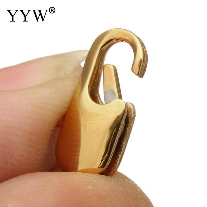 Stainless Steel Lobster Claw Clasp Gold Color Different Sizes Jewelry Accessories Fit for Bracelet Necklace DIY