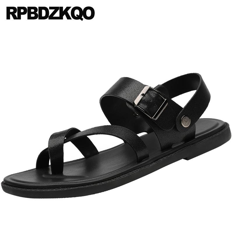 Ale Black Super Leather Toe Clip Strap  NEW  Italian