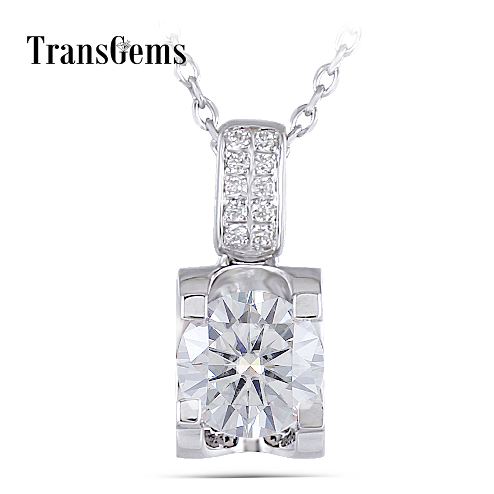 moissanite pendant necklace silver (1