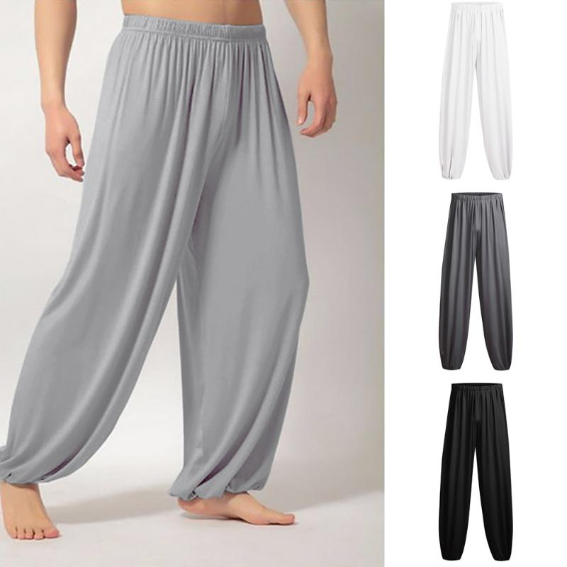 Mens Loose Yoga Pants Sports Home Casual Trousers Lounge Pantalons Trunks Slacks