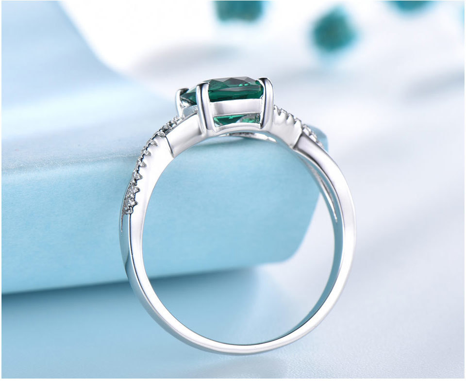 UMCHO Emerald 925 sterling silver jewelry sets for women S027E-1 pc (10)