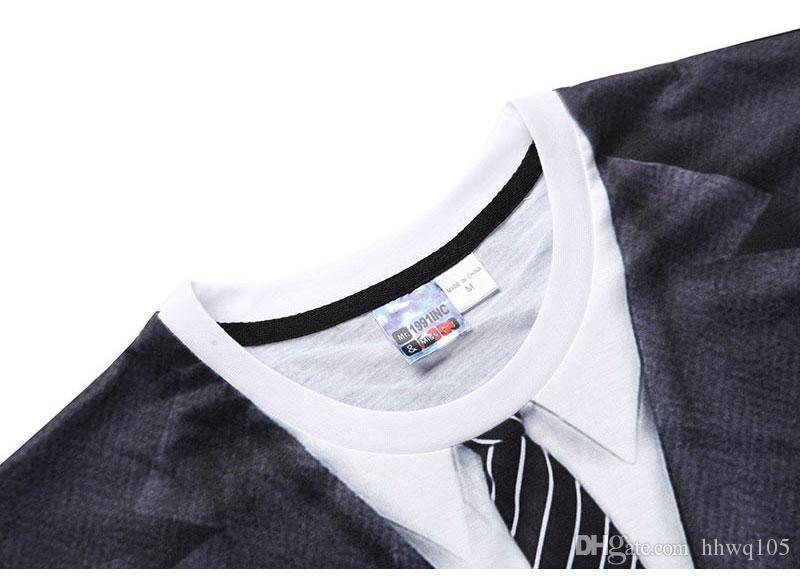 Crazy2019 Novelty T Shirt For Men Dress Suit Printing Short Sleeve Tee Hip Hop Streetwear Plus Size Summer Shirt S-3XL BLG1201