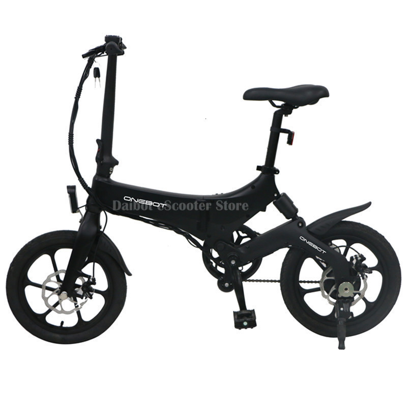 Portable Electric Scooter 250W 36V Two Wheel Electric Bicycle 16'' WhiteBlackOrange Foldable E Bike Max Range 50KM (51)