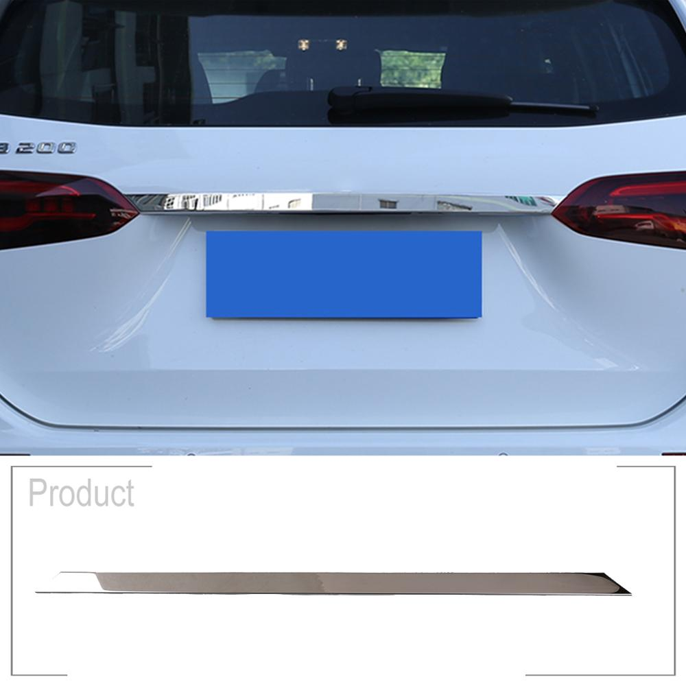 Stainless Rear Trunk lid Tailgate Door cover trim 1pcs For Audi A4 B8 2008-2012