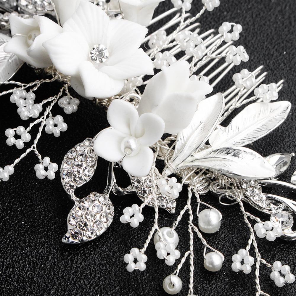 White-Flower-Silver-Leaf-Rhinestone-Hair-Combs-Wedding-Hair-Accessories-Bridal-Women-Pearl-Hair-Ornament-Head (2)