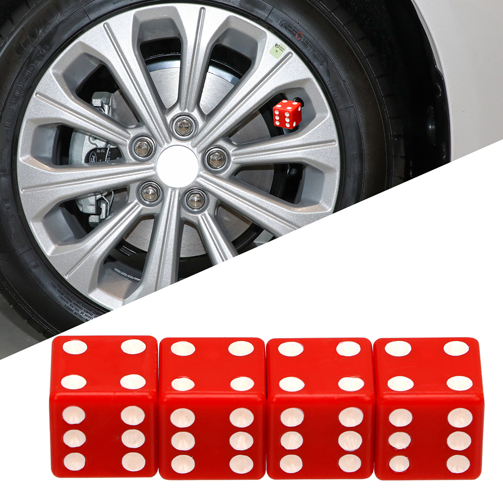 2Pieces Universal Dice Tire Tyre Car Truck Valve Stem Cover Caps Wheel Rims