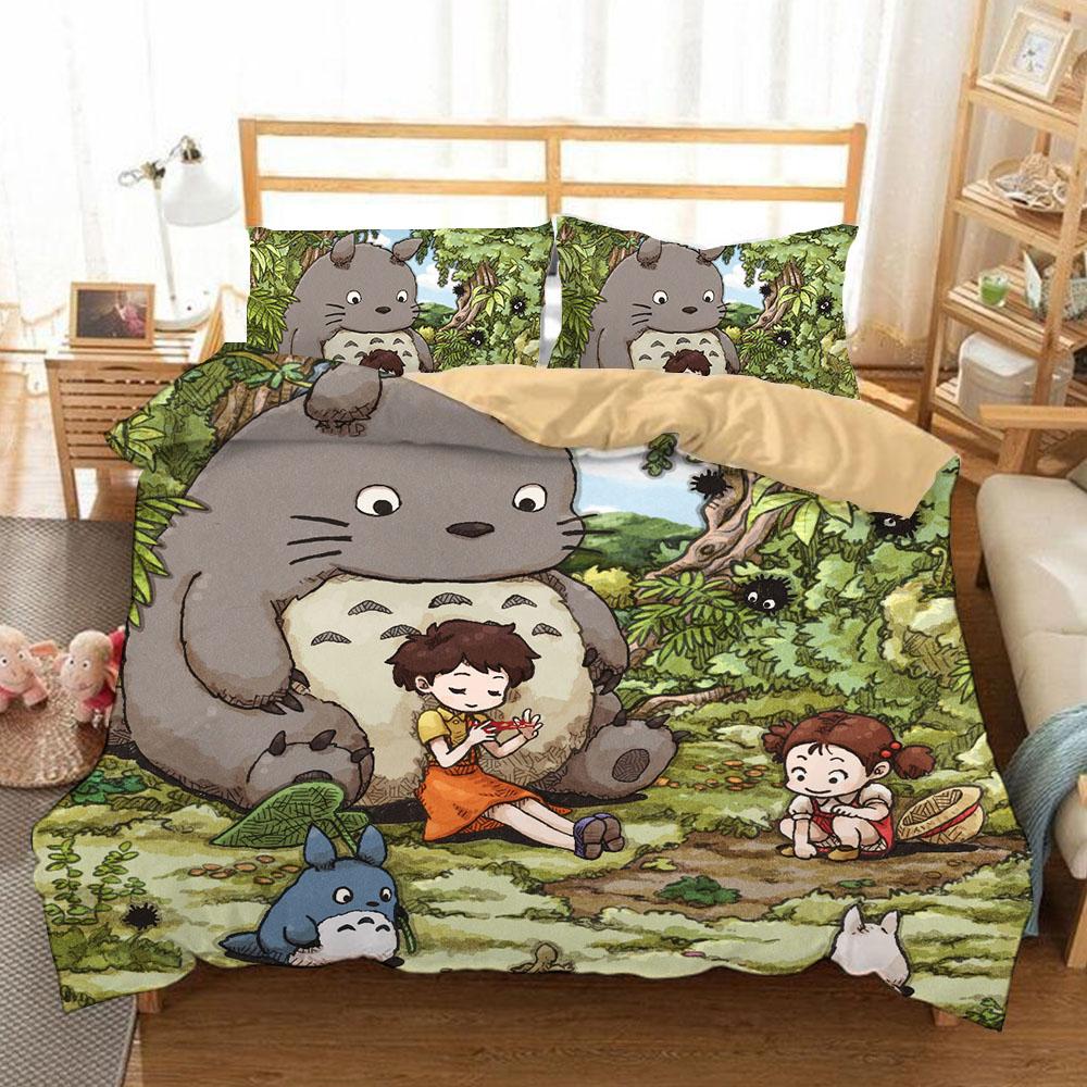 Copripiumino Totoro.Vendita All Ingrosso Di Sconti Biancheria Da Letto Totoro In Messa