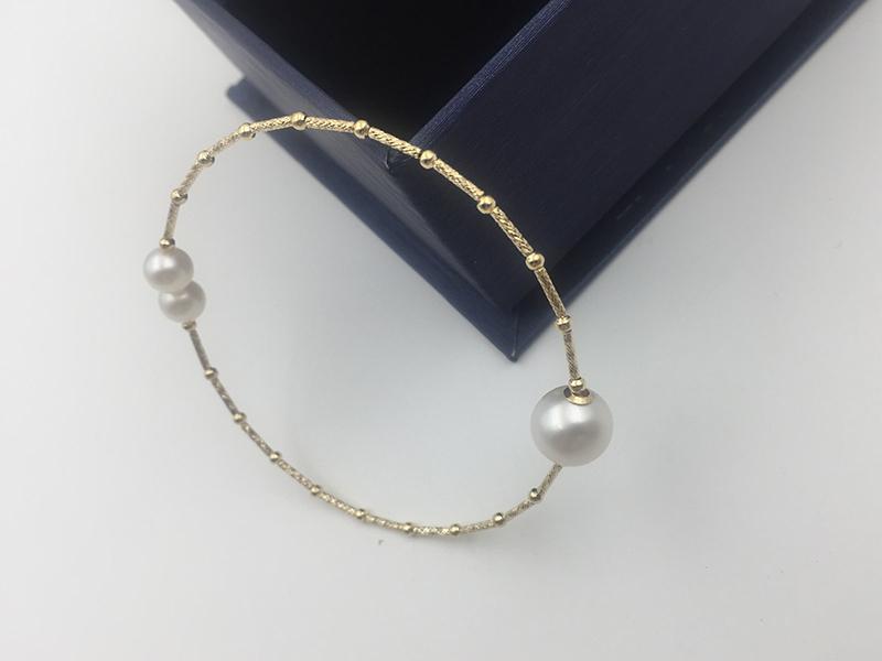 18k gold bangles bracelet SL18K1004 (14)
