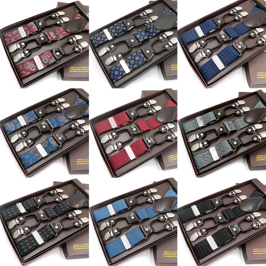 Mens Unisexe Style Réglable 35mm 6 Trous Boutons Bretelles Ceinture Accolades