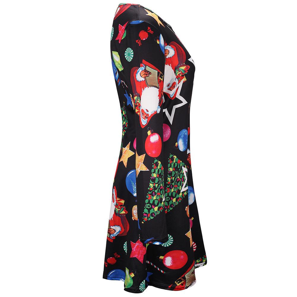 Fairy2019 Elbise Takım Elbise-elbise Baskı Uzun Kollu Noel Elbise Size Sonbahar Ve Kış Yeni Desen