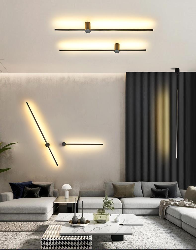 Eclairage Cuisine Led Plafond lumières led pendentif moderne noir / sliver led plafond suspendu pendentif  lampe pour hall cuisine salon chambre