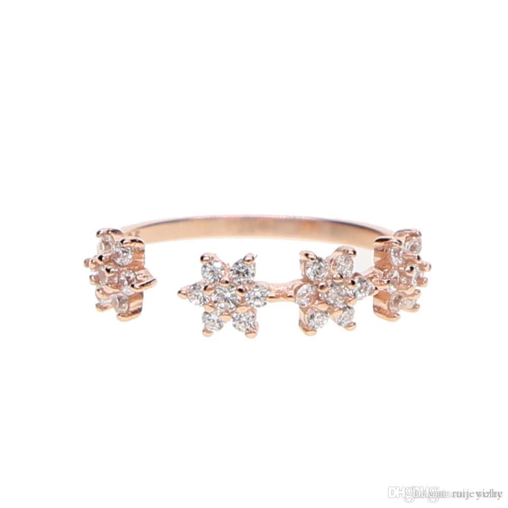 anello pandora con fiorellini