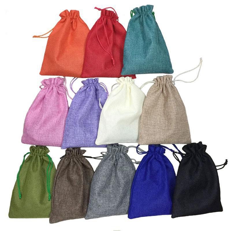 bodas juegos empaque de regalo para fiesta 9/x 12/cm 50/bolsas de organza color rojo con cord/ón