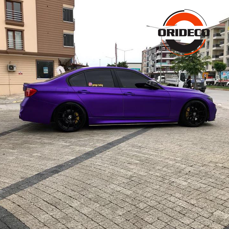 Purple matte metallic satin purple vinyl wraps 4