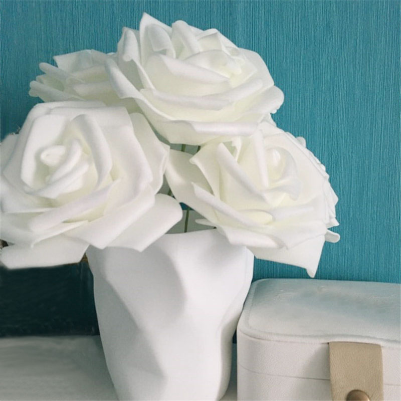 50 Colorful Foam Artificial Rose Flower Heads Wedding Party Decor Bouquet Bul JX