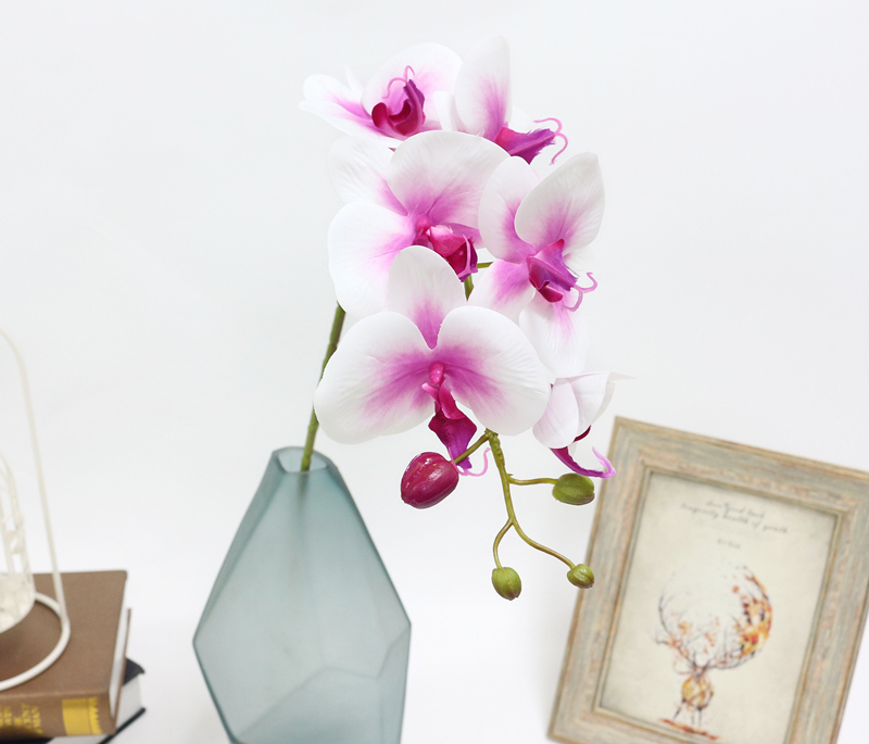Artificial Orchid Flower 4 color Real Touch Artificial Butterfly Orchid flores artificial Wedding decoration home Festival Decor (20)
