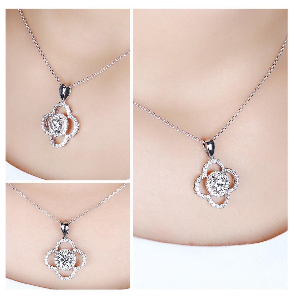 moissanite flower necklace (4)