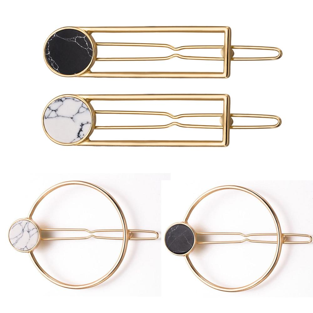 Women Fashion Square Metal Hair Claw Clips Hair Hairpin Stylish Accessories Gift