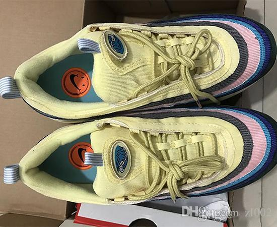 HOT Sean Running Shoes 97 VF SW Wotherspoon Corduroy Mens trainers luxury Casual Shoes women white fashion Sneakers Designer shoes 36-46