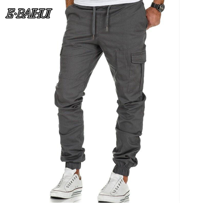 E-BAIHUI Mens Pants Designer Harem Joggers Sweat Pants Elastic Cuff Drop Crotch Biker Joggers Men Gyms Jogger Track Pants CK05