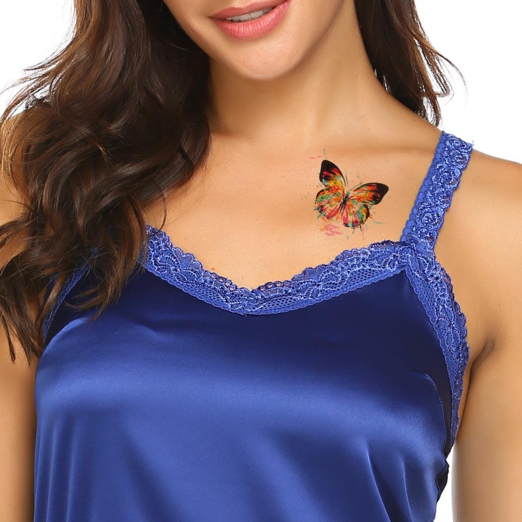 Moda Yeni Renkli Kelebek Çıkarılabilir su geçirmez Geçici Dövme Çıkartma Beden Sanatı Çıkartma Yeni Moda Kelebek Çıkartma