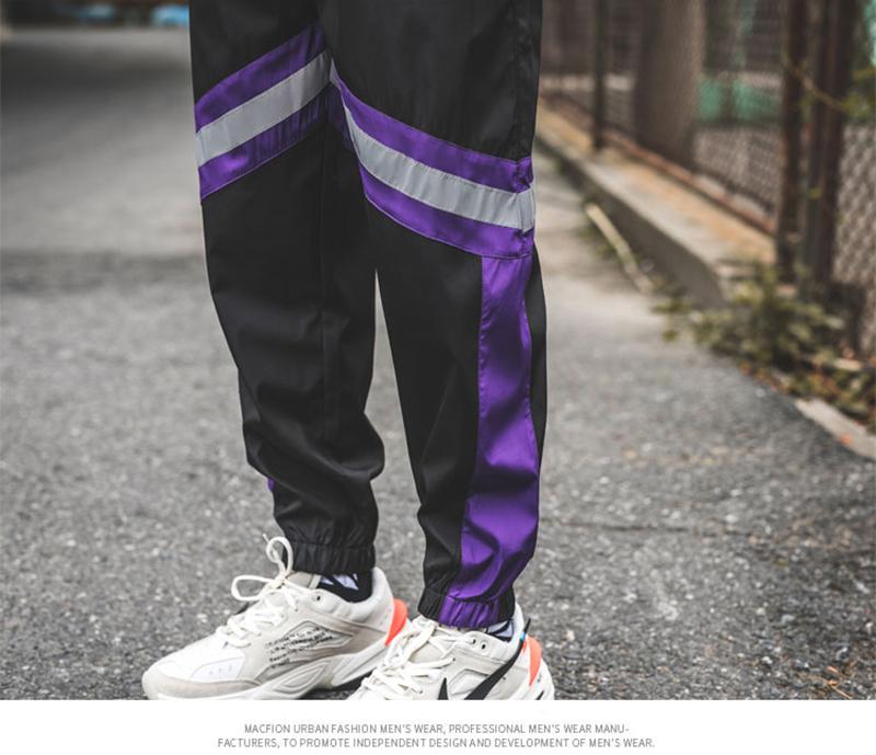 Loose Hip Hop Cargo Pants Men Camouflage Patchwork Harem Mens Trousers Streetwear (66)