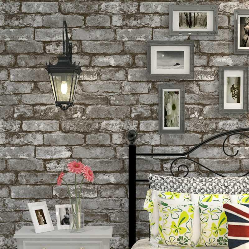 Best Living Room Decorating Ideas Designs Ideas Grey Brick Wallpaper Living Room Design