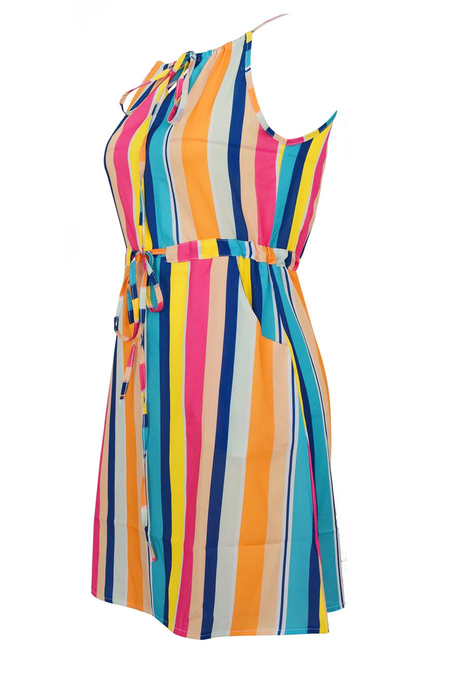 Gladiolus Chiffon Women Summer Dress Spaghetti Strap Floral Print Pocket Sexy Bohemian Beach Dress 2019 Short Ladies Dresses (26)