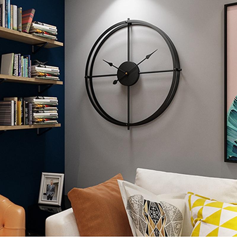 2019 Bref 3d Style Européen Silent Watch Horloge Murale Design Moderne pour Home Office Décoratif Suspendu Horloges Mur Décor À La Maison