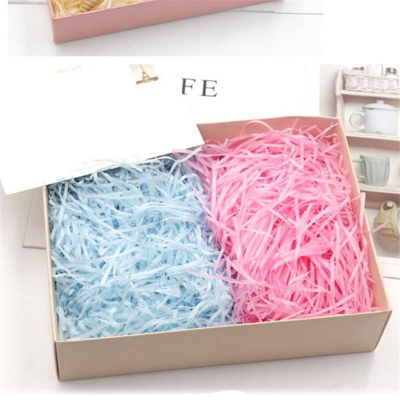 100 gr//paket Geschreddert Seidenpapier Baker Füllstoff Paket Wrap Box-Taschen。