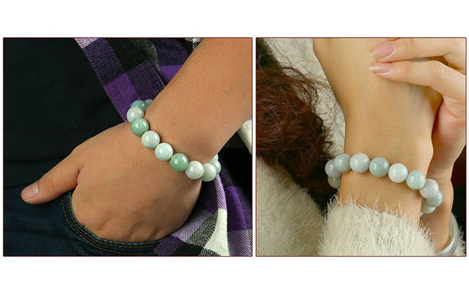 Natural Myanmar Green Jade Bracelet 13MM beads Fashion Temperament Jewelry Gems Accessories Gifts Wholesale