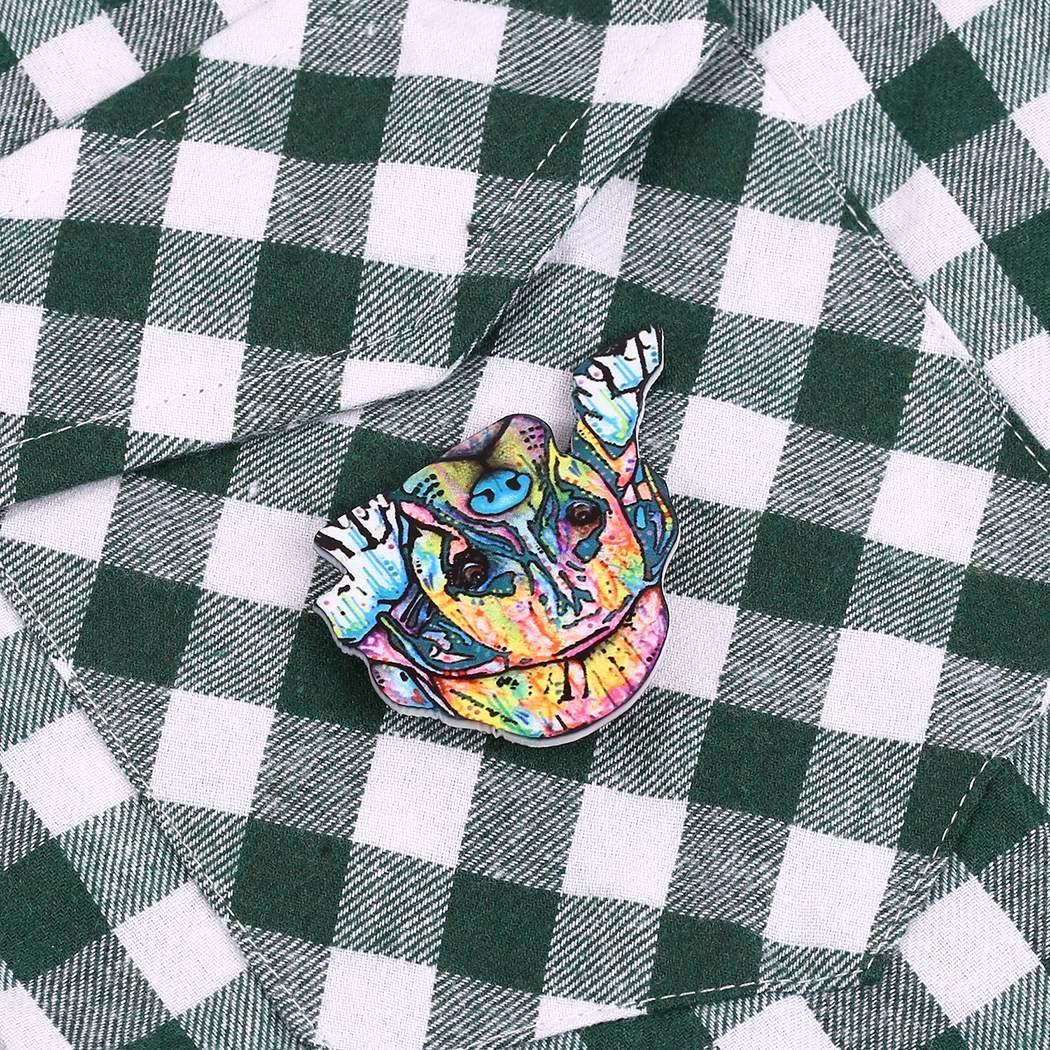 Nuevo Retro acrílico perro broche Pin ropa accesorios regalos joyas Nuevo Retro broche