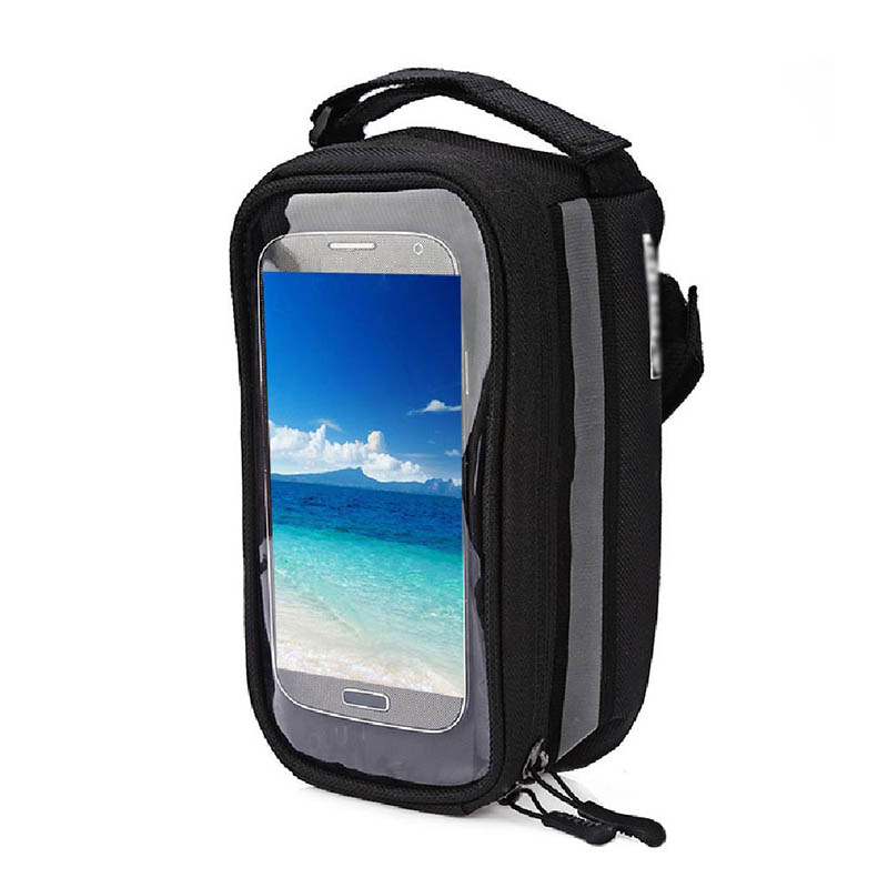 Bicycle Phone Bag Case Touch Screen Waterproof Bike Frame Front Tube Storage Bag Pouch Case for iPhone Samsung 3.5-6 inch Phones (17)