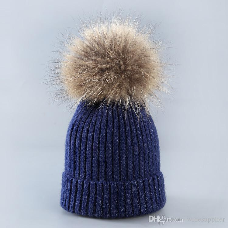Clamped wool cap Hats ladies wool hat parent-child ear protection warm hair knitting hat factory Price Xmas hat