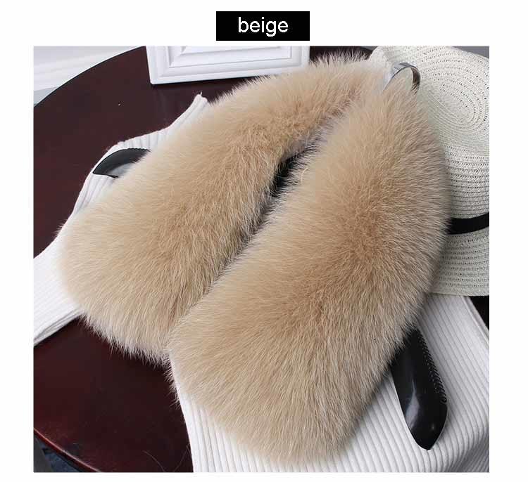 fox fur collar beige 1