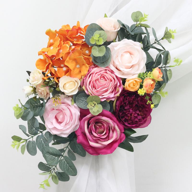 JAROWN Artificial Rose Flower Row Small Corner Flowers Simulation Silk Fake Flowers Wedding DIY Decor Home Garland Decor Flores (1)