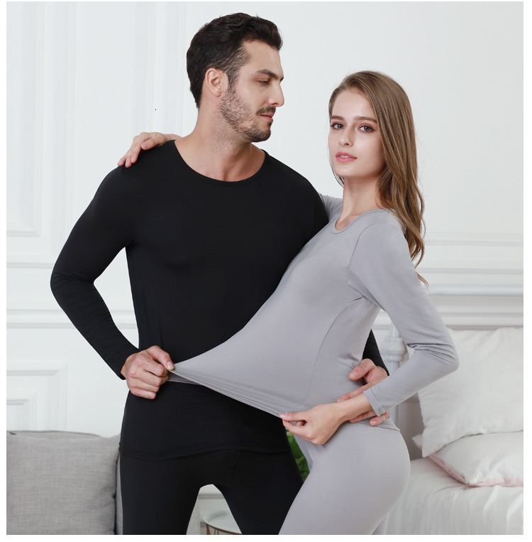Queenral Long Johns For Male Female Warm Thermal Underwear Thermal Clothing Men Woman Winter Plus Size L - XXXL Thermal Suit 4
