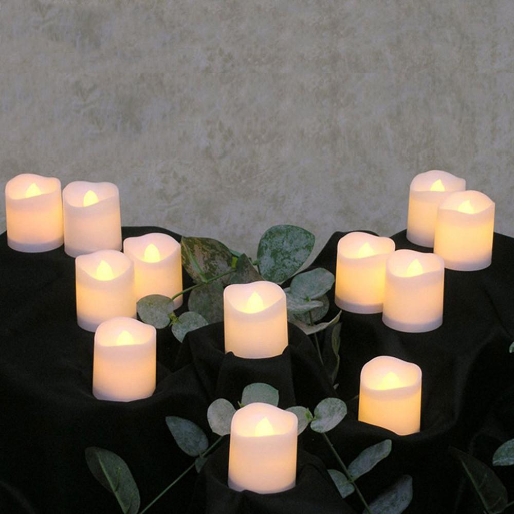 bougies led électrique alimenté par énergie solaire clignotant thé sans