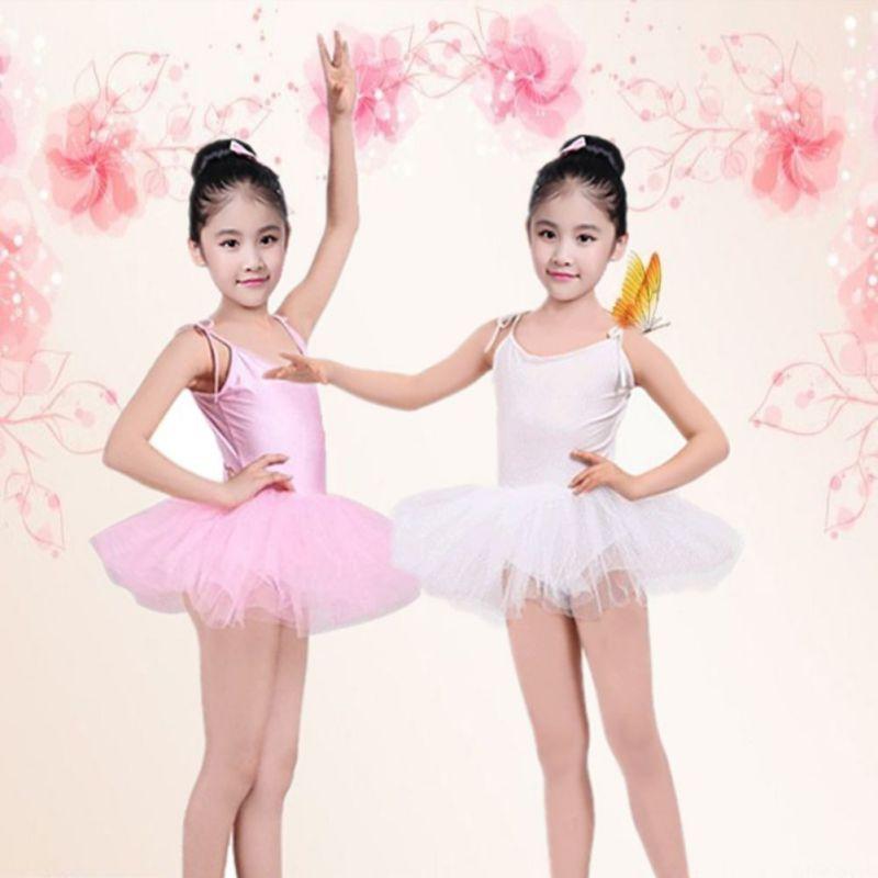 Toddler Girls Kids Gymnastics Dance Dress Ballet Tutu Leotard Biketard Jumpsuit