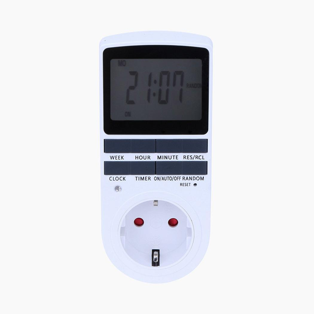 Nueva pantalla LCD Programable Digital Timer Switch Socket Digital Timer Switch